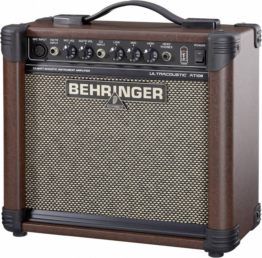 Acoustic Guitar Amplifier Behringer At108 Brown From Conrad Com