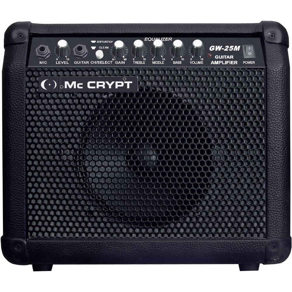 Electric Guitar Amplifier Mc Crypt Gw25 M Black From Mic