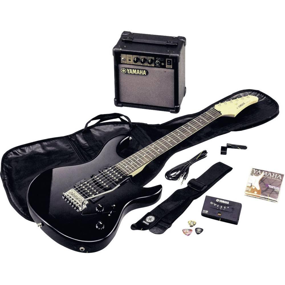 electric guitar kit yamaha erg121gpiih black incl from. Black Bedroom Furniture Sets. Home Design Ideas