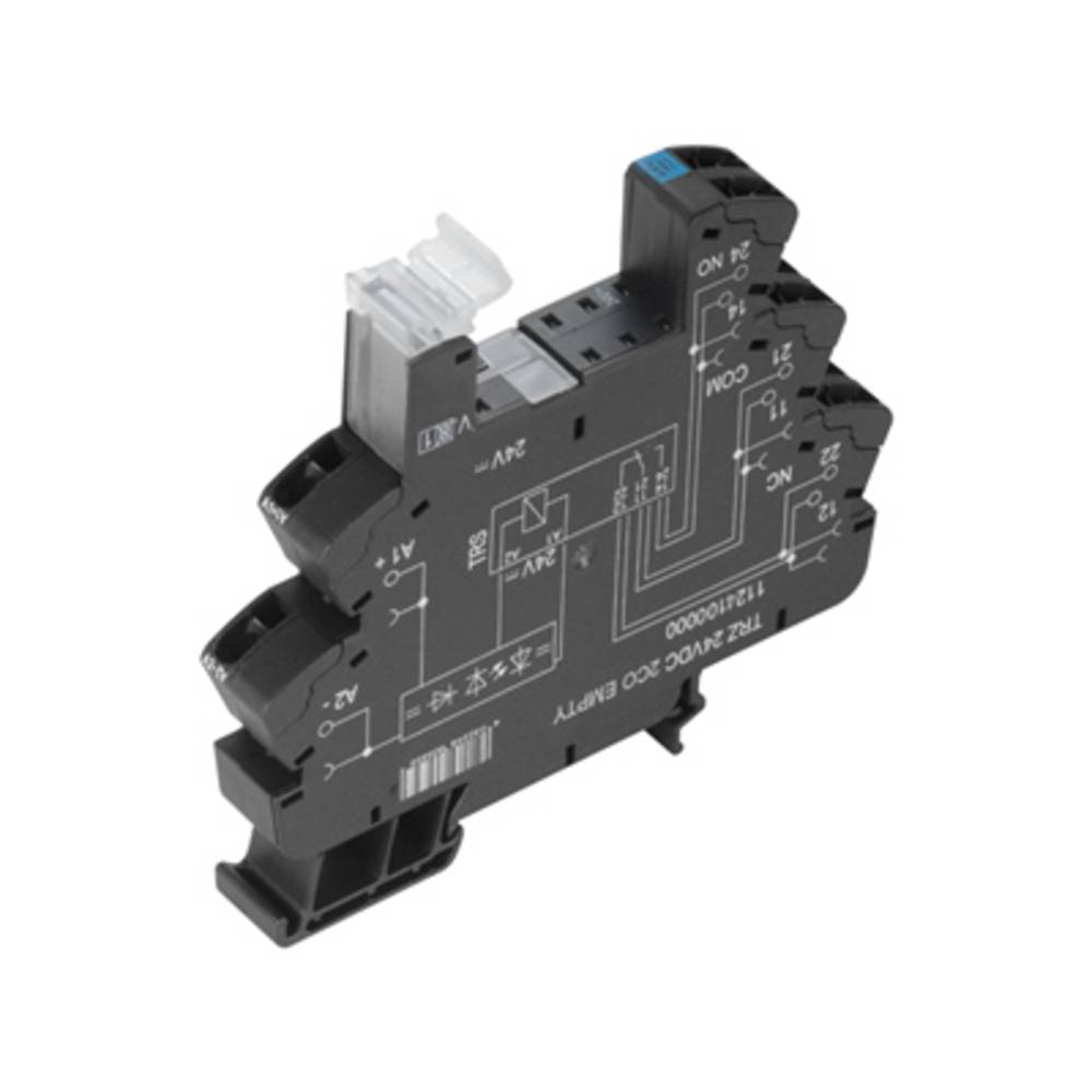 Relæsokkel 10 stk Weidmüller TRZ 24VDC 2CO EMPTY Passer til serie: Weidmüller serie TERMSERIES (B x H x T) 12.8 x 90 x 88 mm