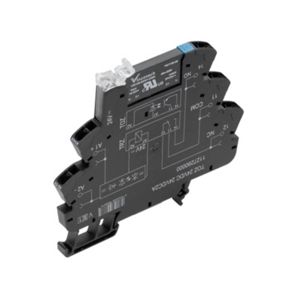 Halvlederrelæ 10 stk Weidmüller TOZ 120VAC RC 24VDC2A Last-Strøm (maks.): 2 A Koblingsspænding (max.): 33 V/DC