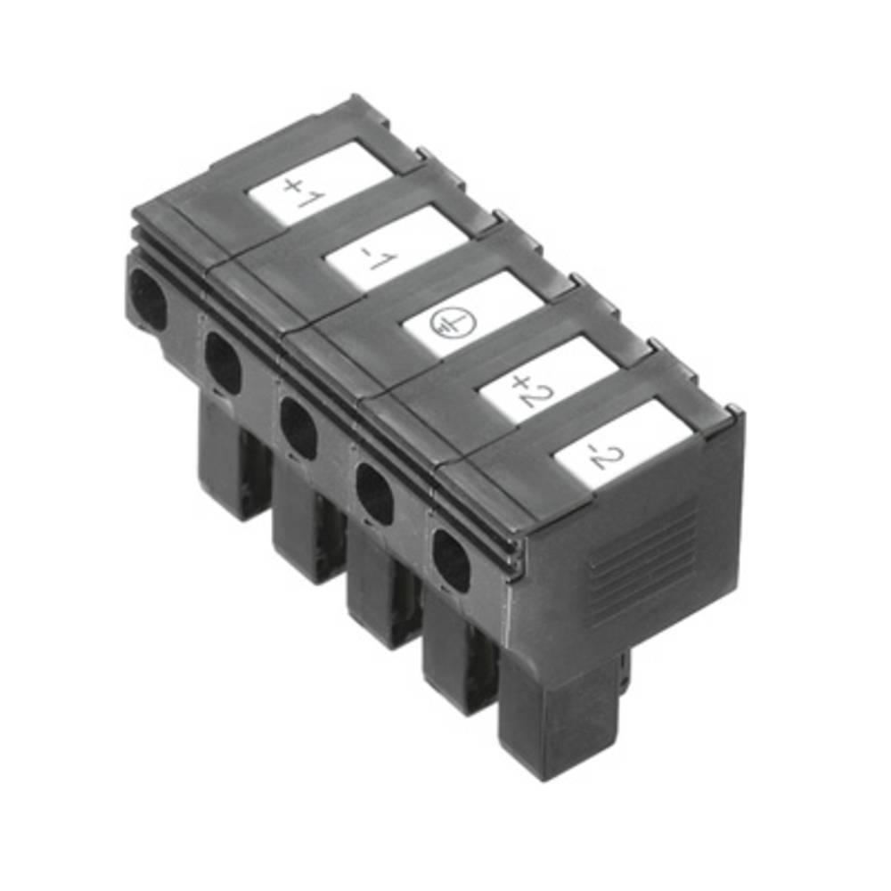 Varnostni vtični priključek, prilagodljVarnostni viv: 0.5-4 mm toga: 0.5-4 mm št. polov: 5 Weidmüller PTS 4 DC 10 kos črna