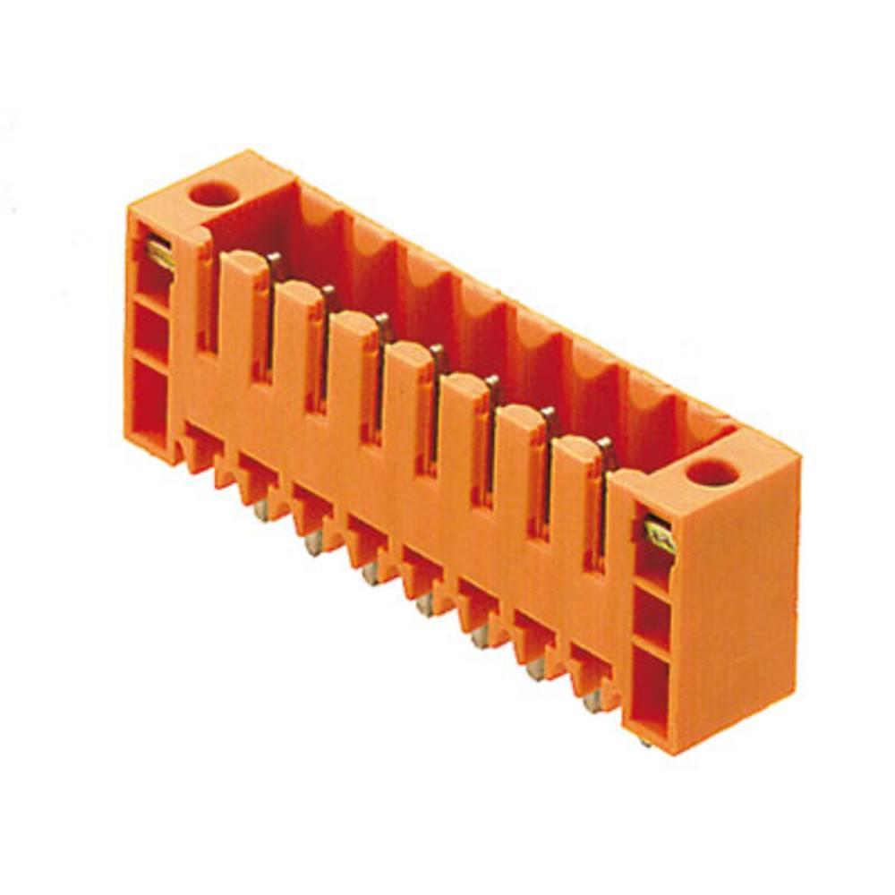 Vtični konektor za tiskana vezja oranžne barve Weidmüller 1607510000 vsebuje: 100 kosov