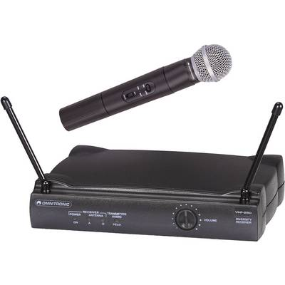 Omnitronic VHF-250 Wireless microphone set Transfer type:Radio
