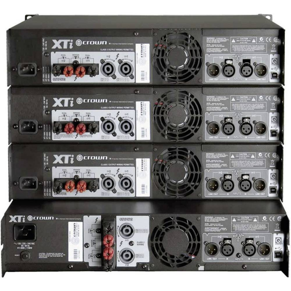 pa amplifier crown xti 1002 rms power per channel at 4 ohm 500 w from. Black Bedroom Furniture Sets. Home Design Ideas
