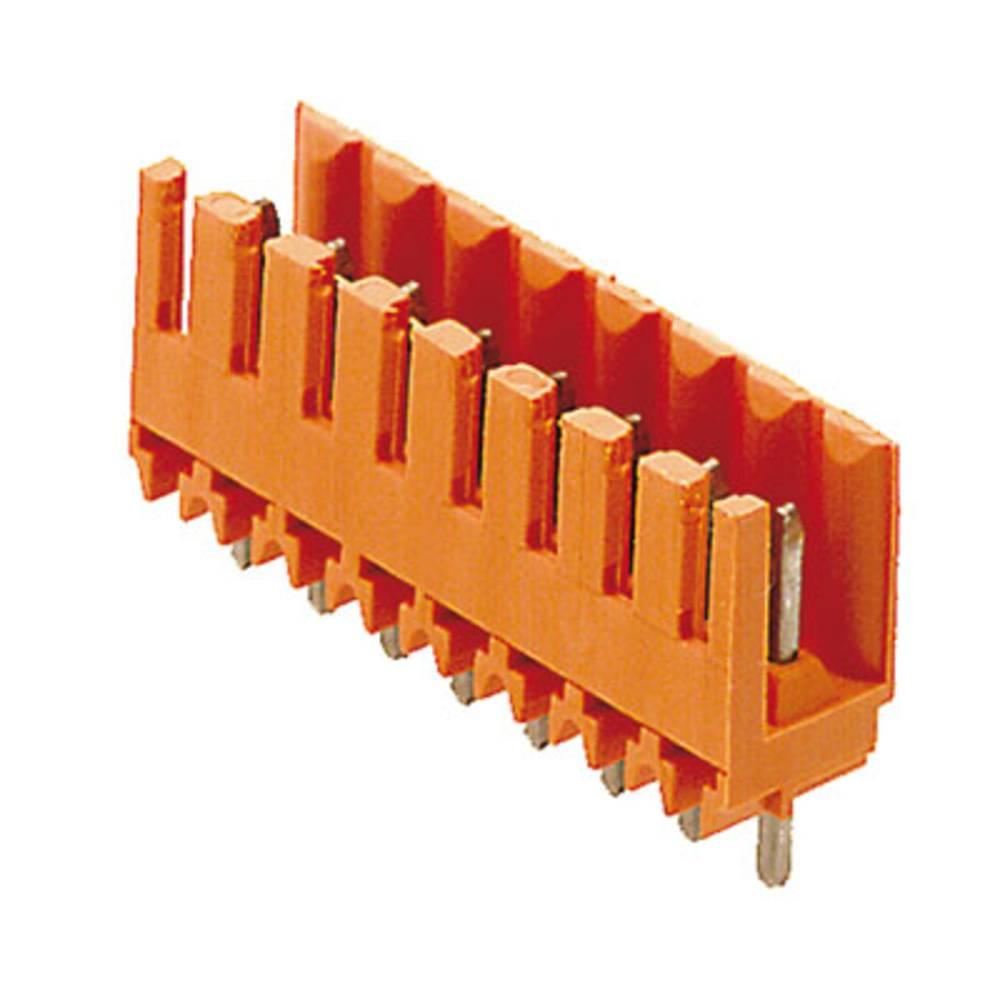 Vtični konektor za tiskana vezja oranžne barve Weidmüller 1604840000 vsebuje: 50 kosov