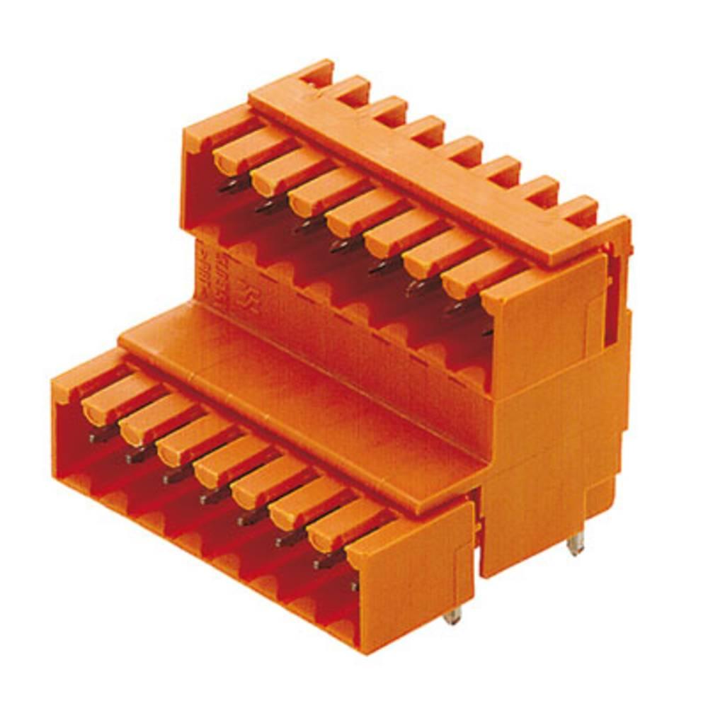 Vtični konektor za tiskana vezja oranžne barve Weidmüller 1642300000 vsebuje: 10 kosov