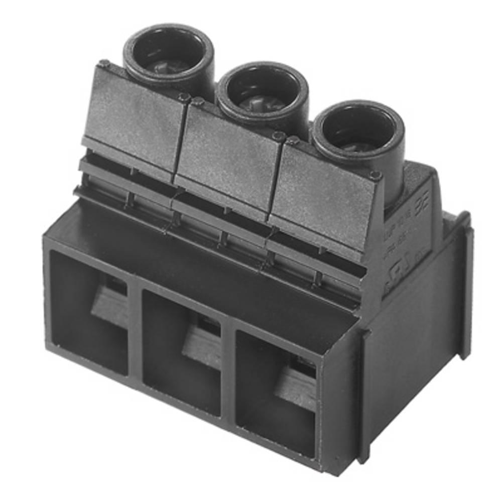 Skrueklemmeblok Weidmüller LUP 10.16/03/90V 3.2SN BK BX 16.00 mm² Poltal 3 Sort 20 stk