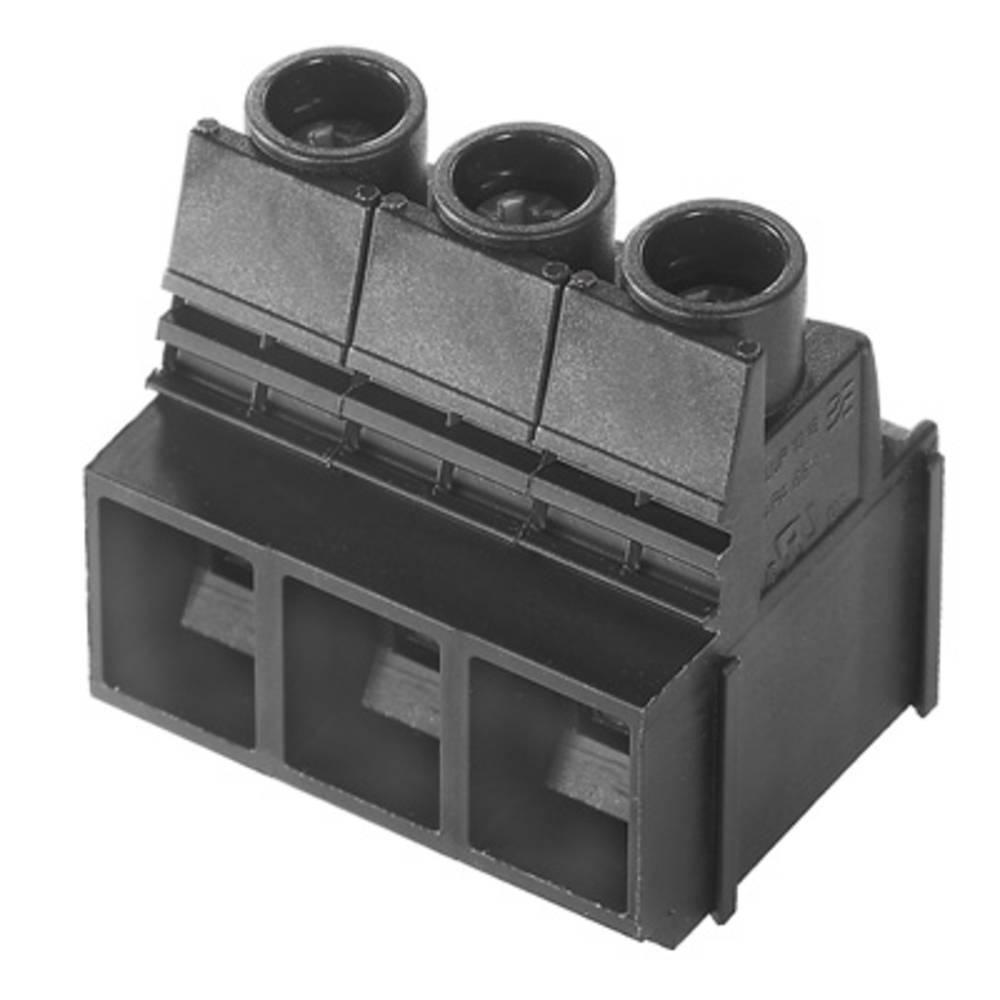 Skrueklemmeblok Weidmüller LUP 10.16/04/90 3.2SN BK BX 16.00 mm² Poltal 4 Sort 20 stk