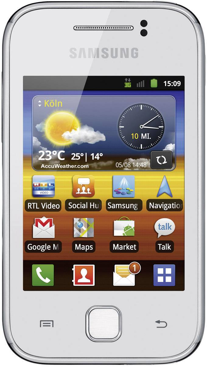 samsung galaxy y android 2 3 sim free smartphone from conrad com rh conrad com Verizon Samsung Galaxy 3 Manual Samsung Galaxy Note Manual
