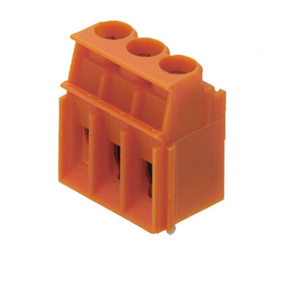 Skrueklemmeblok Weidmüller LP 5.00/03/90 3.2SN OR BX 4.00 mm² Poltal 3 Orange 100 stk