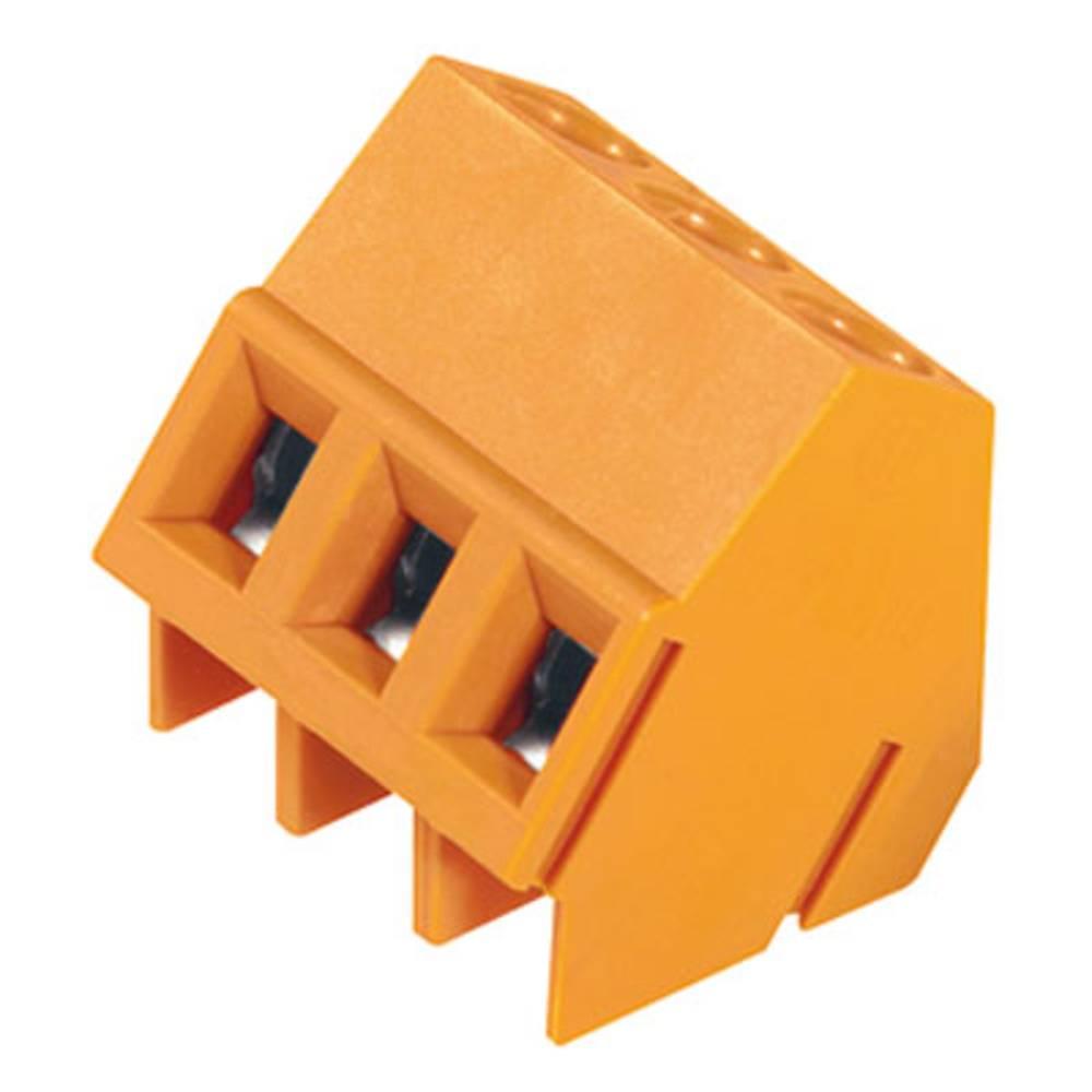 Skrueklemmeblok Weidmüller LM 5.08/05/135 3.5SN OR BX 2.50 mm² Poltal 5 Orange 50 stk