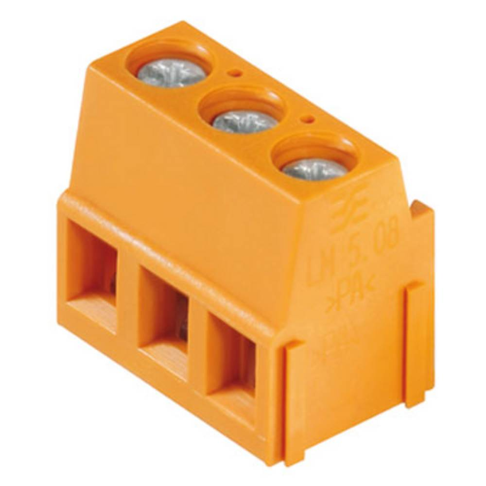 Skrueklemmeblok Weidmüller LM 5.00/05/90 3.5SN OR BX 2.50 mm² Poltal 5 Orange 50 stk