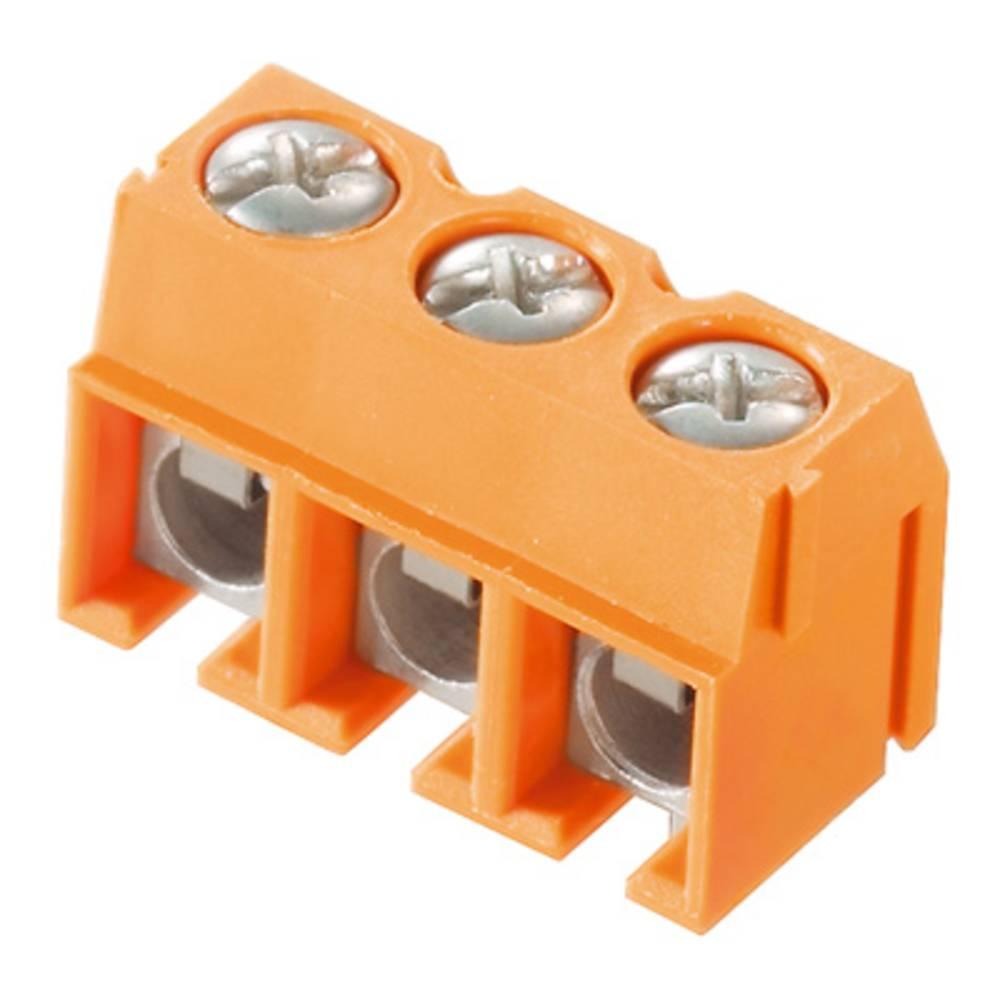 Skrueklemmeblok Weidmüller PM 5.00/08/90 3.5SN OR BX 2.50 mm² Poltal 8 Orange 100 stk