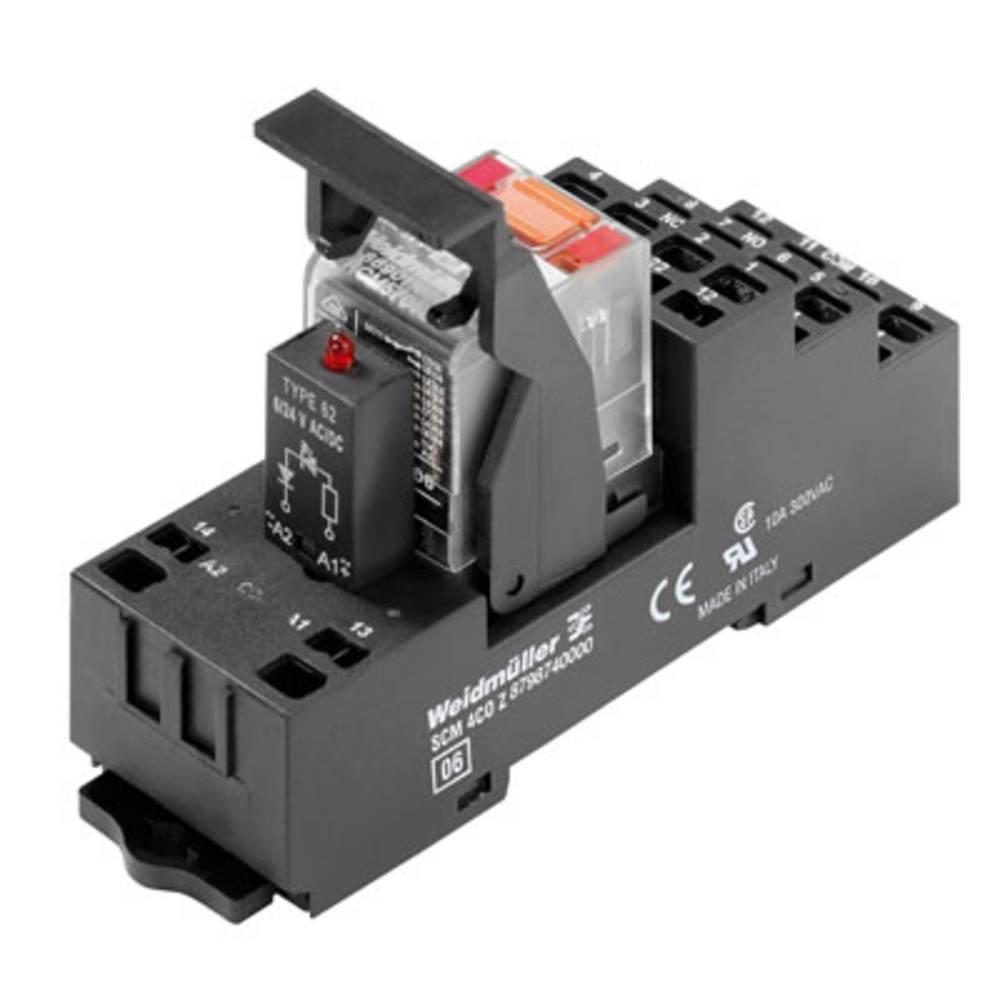 Relækomponent 10 stk Weidmüller RCMKITZ 24VDC 4CO LED Nominel spænding: 24 V/DC Brydestrøm (max.): 6 A 4 x omskifter
