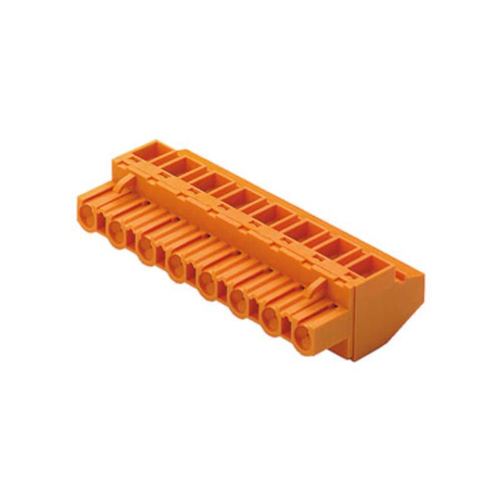 Vtični konektor za tiskana vezja oranžne barve Weidmüller 1701800000 vsebuje: 90 kosov