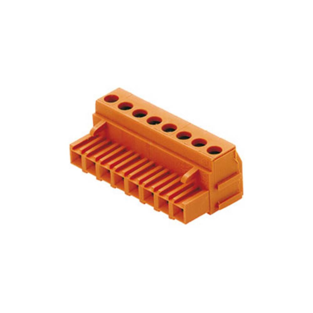 Tilslutningskabinet-kabel BLA/SLA 5.08 Samlet antal poler 9 Weidmüller 1356760000 Rastermål: 5.08 mm 36 stk
