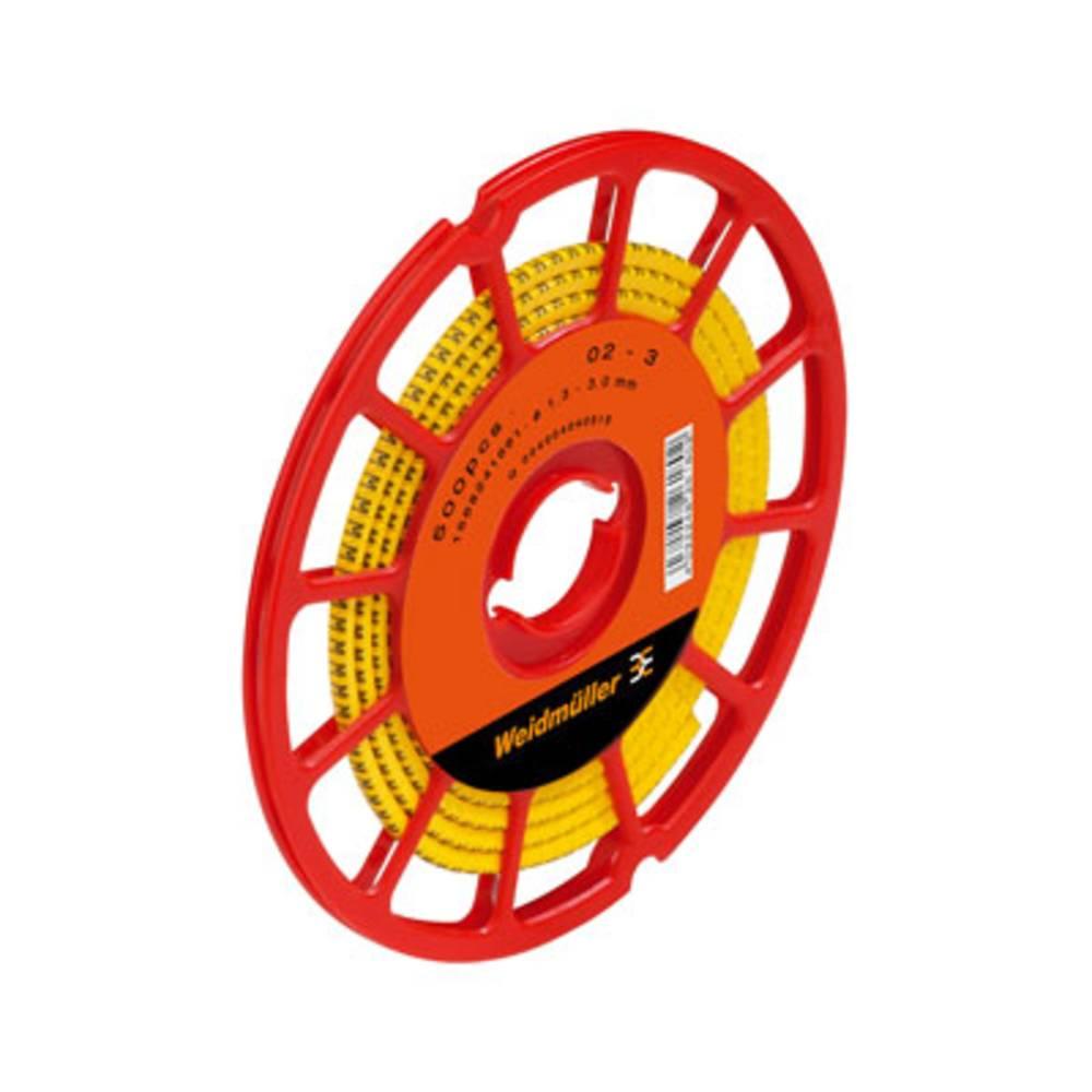 Mærkningsring Weidmüller CLI C 02-3 GE/SW I CD 1568241653 Gul 500 stk