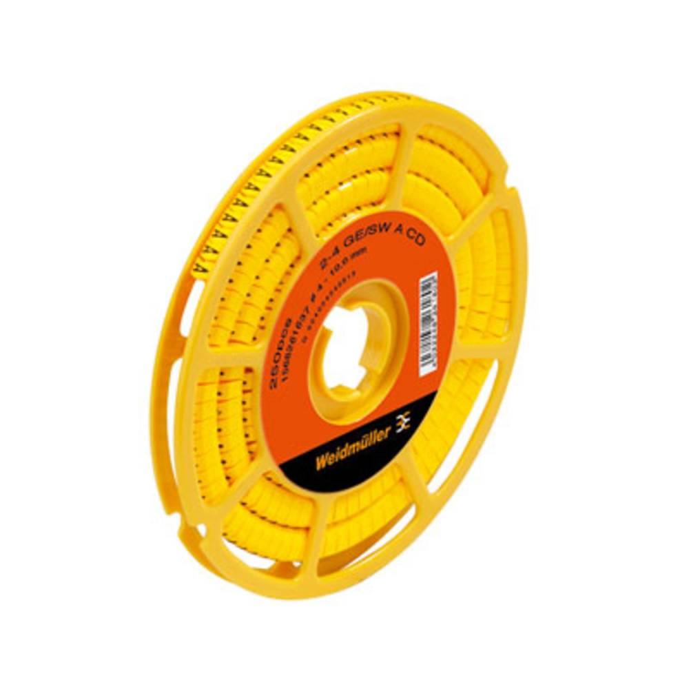 Mærkningsring Weidmüller CLI C 2-4 GE/SW F CD 1568261647 Gul 250 stk
