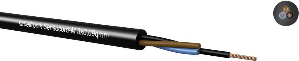 Senzorski kabel Sensocord® 3 x 0.09 mm crne boje Kabeltronik 246300909 100 m