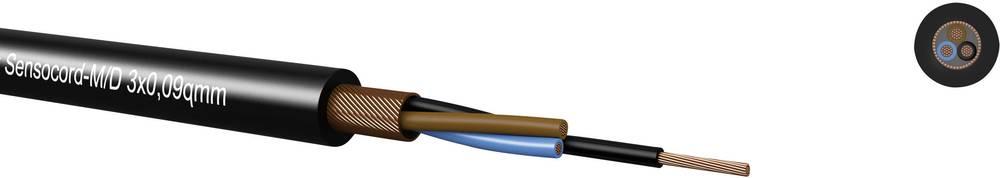 Senzorski kabel Sensocord® 8 x 0.09 mm crne boje Kabeltronik 248800909 100 m