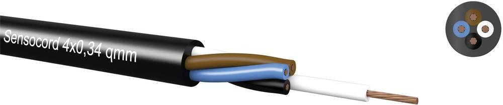 Senzorski kabel Sensocord® 4 x 0.34 mm črne barve Kabeltronik 245403409 meterski