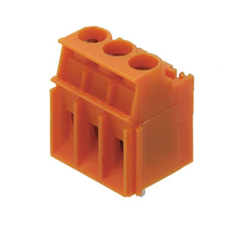 Skrueklemmeblok Weidmüller LPP 5.08/03/90 3.2SN OR BX 4.00 mm² Poltal 3 Orange 100 stk
