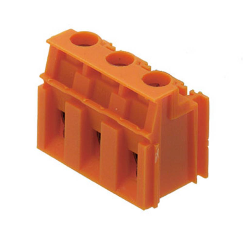 Skrueklemmeblok Weidmüller LPP 7.62/03/90 3.2SN OR BX 4.00 mm² Poltal 3 Orange 100 stk