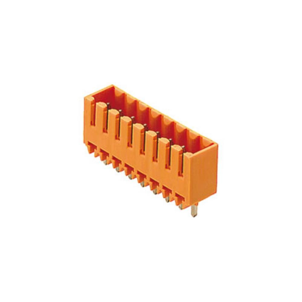 Vtični konektor za tiskana vezja oranžne barve Weidmüller 1621800000 vsebuje: 20 kosov