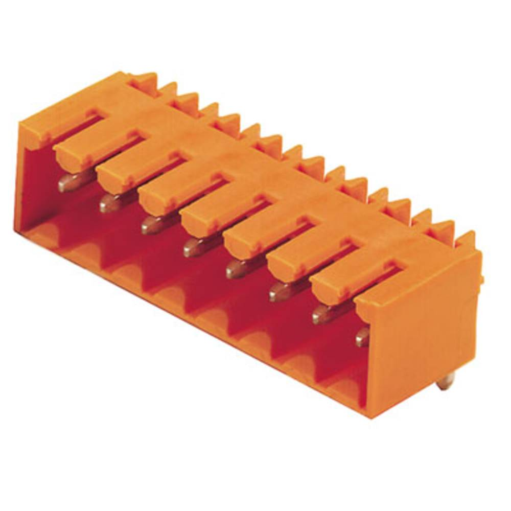 Vtični konektor za tiskana vezja oranžne barve Weidmüller 1619420000 vsebuje: 20 kosov