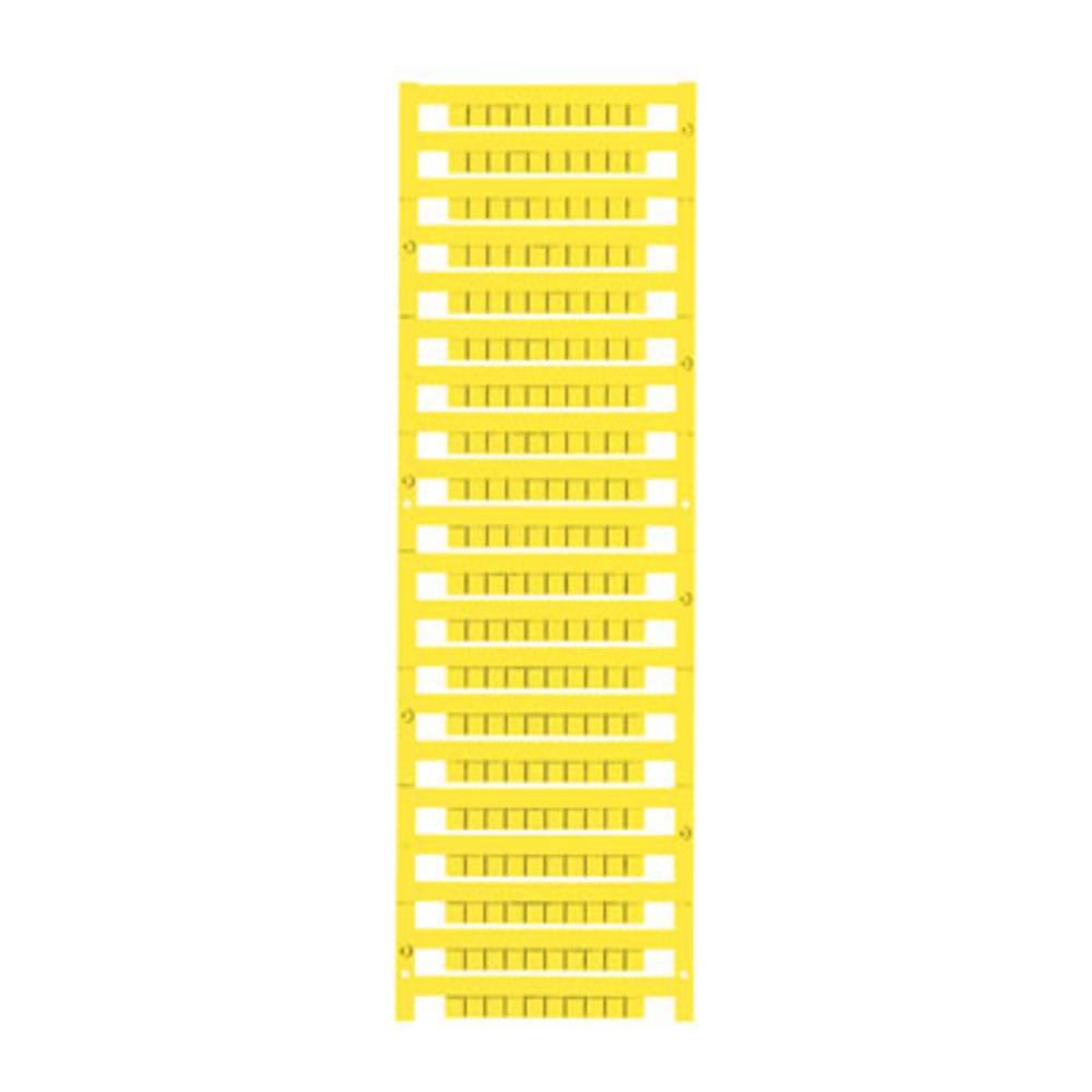 Enhed markører MultiCard DEK 5/5 MC-10 NEUT. GE 1609801687 Gul Weidmüller 1000 stk