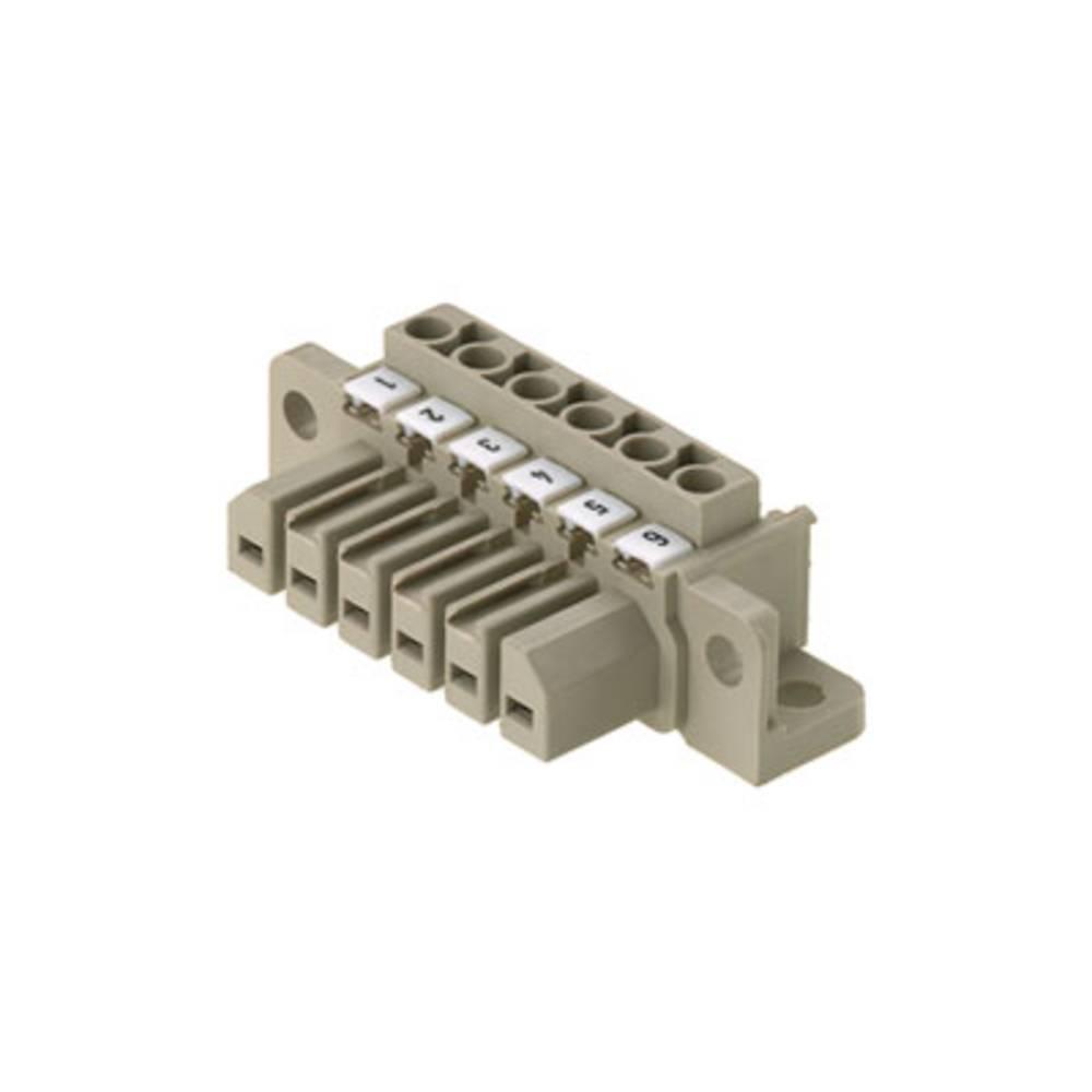 Stiftkabinet-kabel Samlet antal poler 6 Weidmüller 1612080000 Rastermål: 7 mm 10 stk