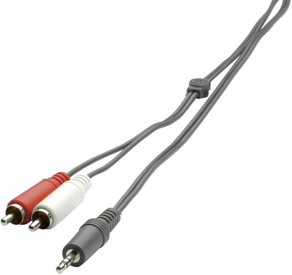SpeaKa Professional-Činč/JACK audio priključni kabel [2x činč vtič - 1x JACK vtič 3.5mm] 2m, črn 50307 Promo