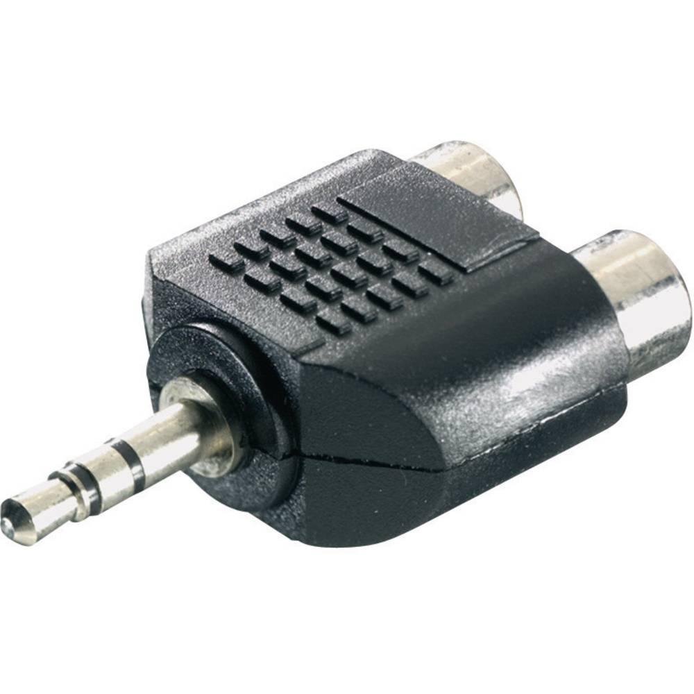 SpeaKa Professional-Audio adapter, 3.5mm moški JACK konektor/ženski činč konektor