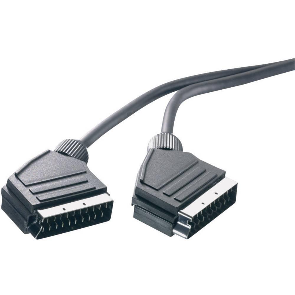 SCART TV, prijemnik (receiver) priključni kabel [1x SCART-utikač 1x SCART-utikač] 1.50 m crn