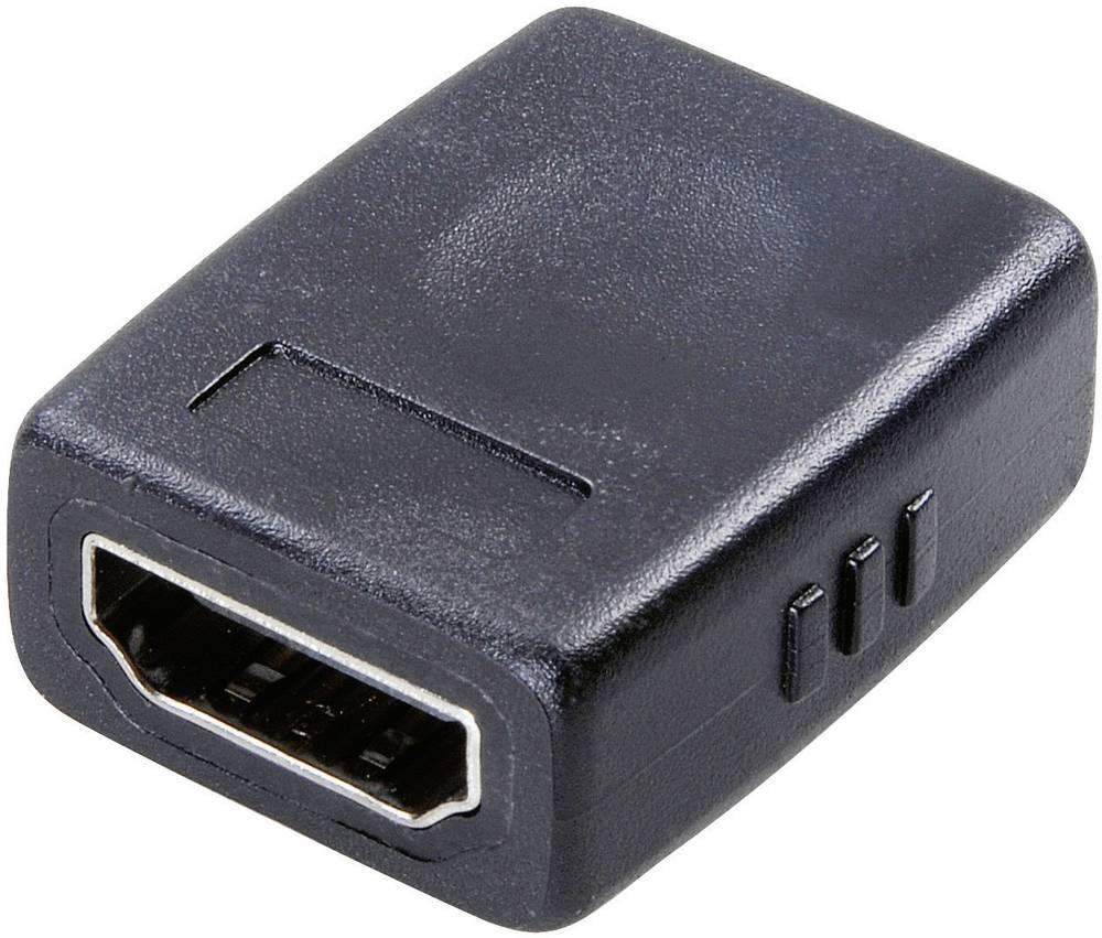 HDMI Adapter [1x HDMI-vtičnica 1x HDMI-vtičnica] črn SpeaKa Professional
