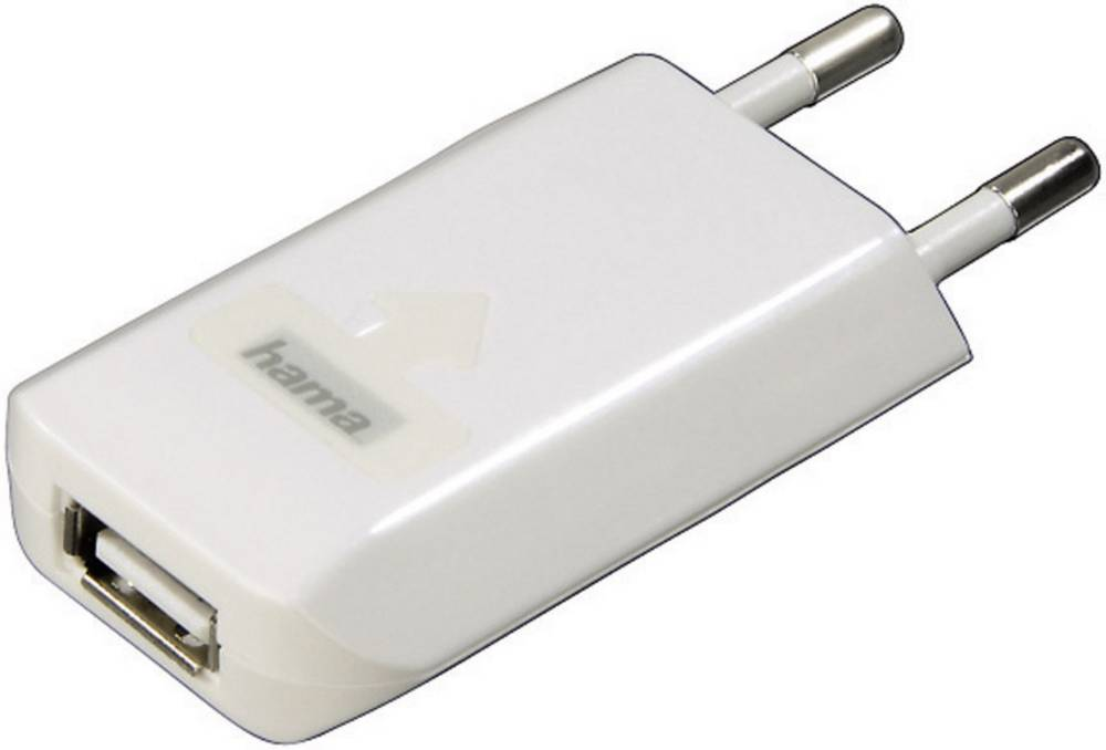 USB-oplader Hama USB-Ladegerät für iPod/iPhone 00014123 Stikdåse Udgangsstrøm max. 800 mA 1 x USB