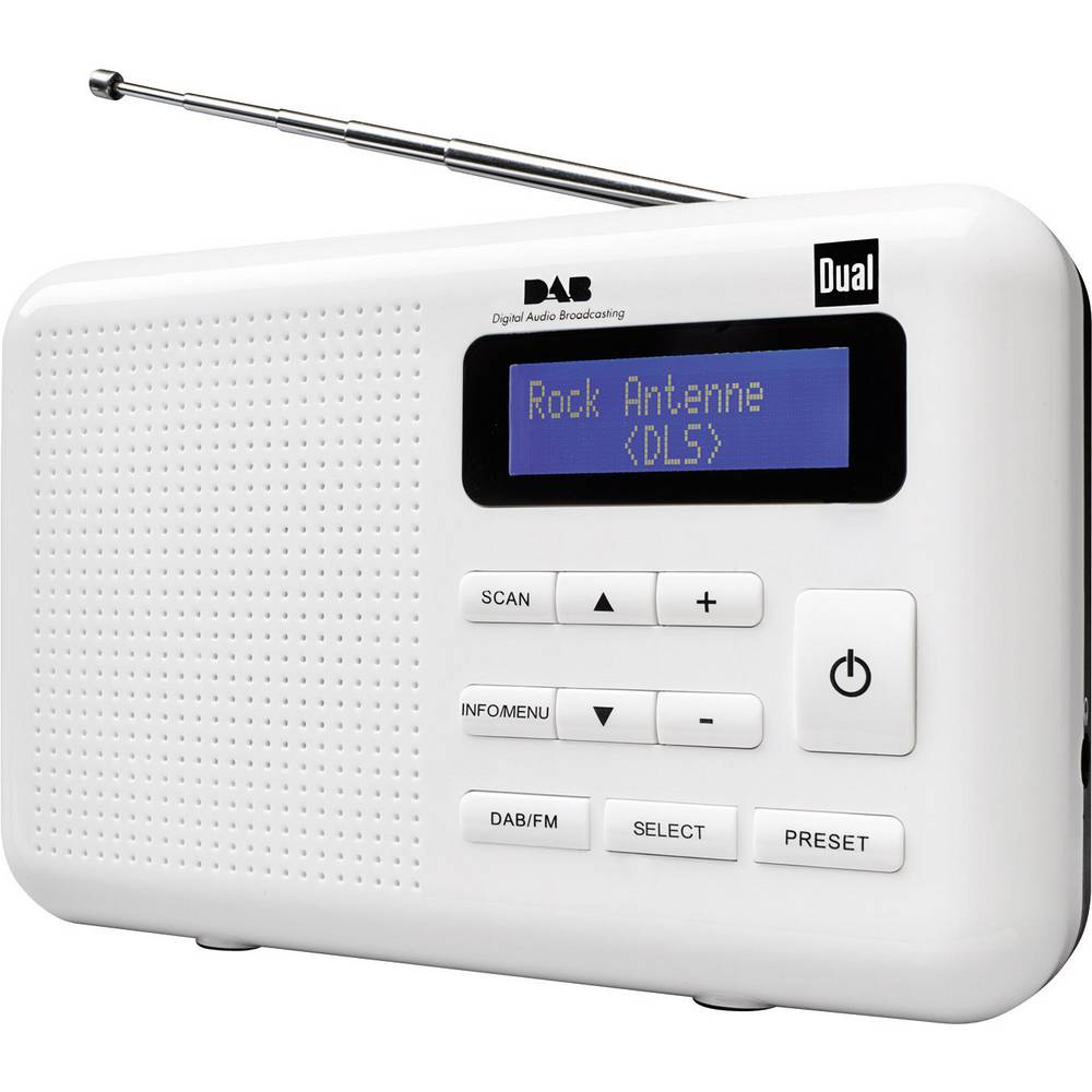 dual dual dab 2 bathroom radio white - Bathroom Radio
