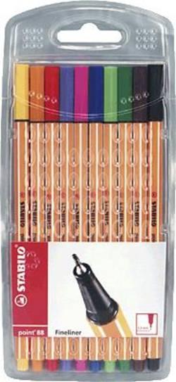 STABILO® point 88 ®, färgkulspetspenna med fin spets /8810 0,4mm sorterat inneh. 10 Stabilo (8810) Flerfärgad 10 st