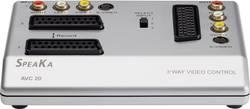 3 porte SCART-, komponent-, S-video-matrix-switch SpeaKa Professional AVC-20 med overspilningsfunktion