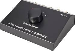 4 porte Cinch-audio-omskifter SpeaKa Professional