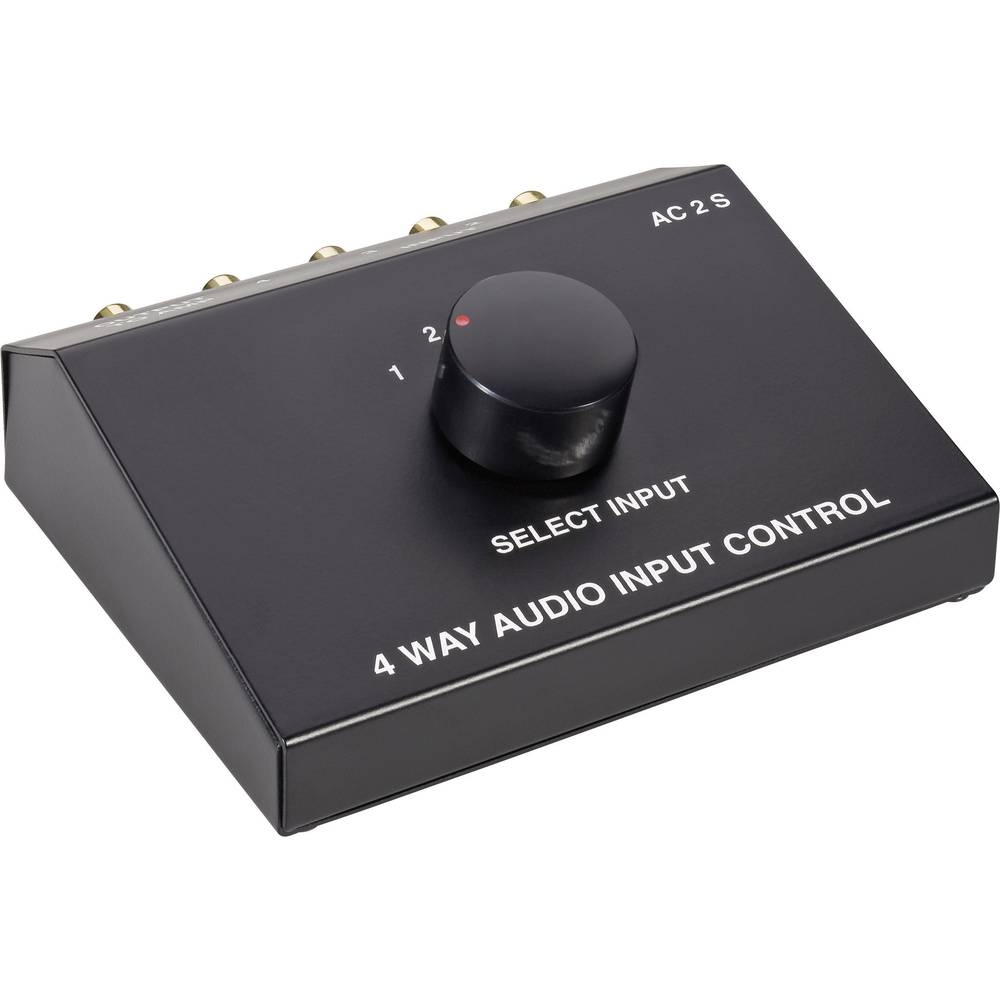 Speaka Professional 4 Ports Rca Audio Switch From Way Controls