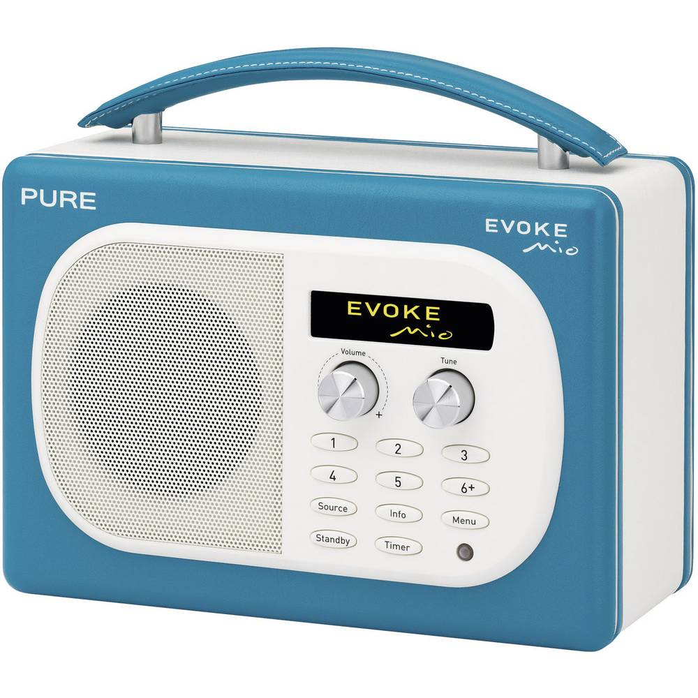 pure evoke mio teal bathroom radio turquoise - Bathroom Radio