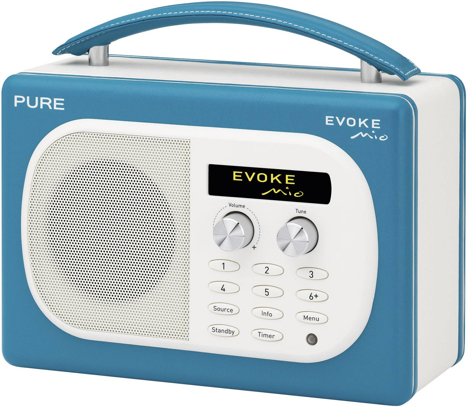 Bon Pure EVOKE Mio, Teal Bathroom Radio, Turquoise