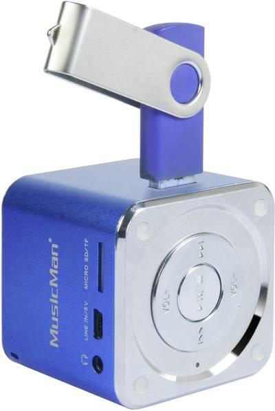 Image of Mini speaker Technaxx MusicMan Mini Aux, SD, USB Blue