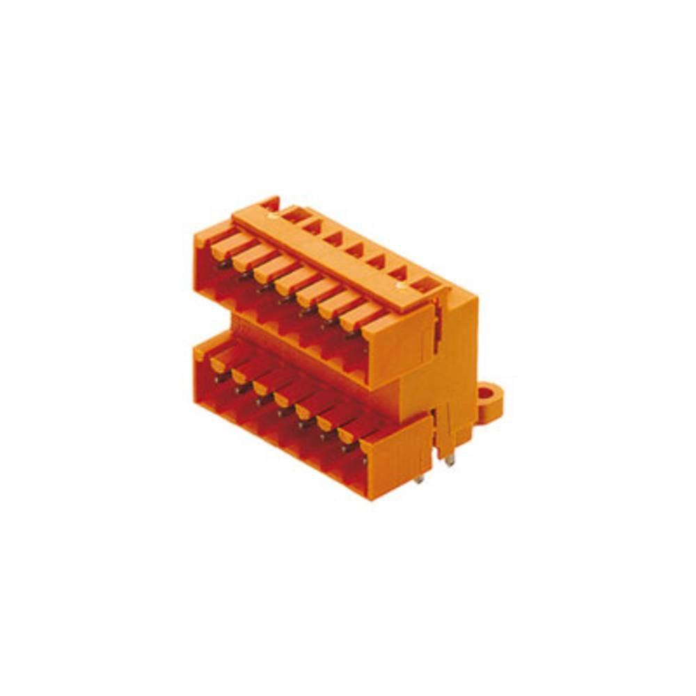 Vtični konektor za tiskana vezja oranžne barve Weidmüller 1633790000 vsebuje: 10 kosov