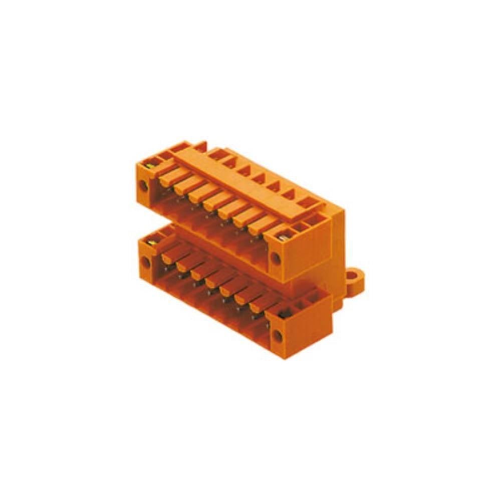 Vtični konektor za tiskana vezja oranžne barve Weidmüller 1634000000 vsebuje: 10 kosov