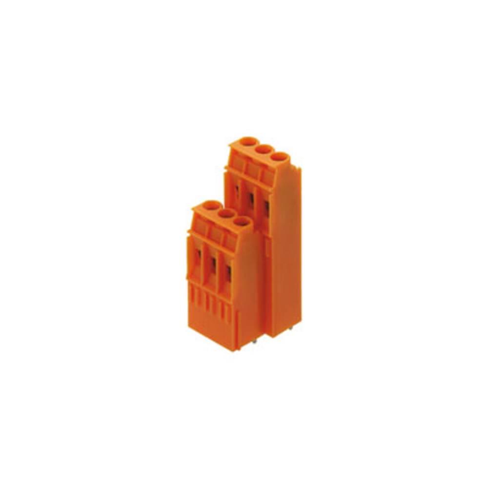 Dobbeltrækkeklemme Weidmüller LP2HR 5.08/30/90 3.2SN OR BX 4.00 mm² Poltal 30 Orange 10 stk