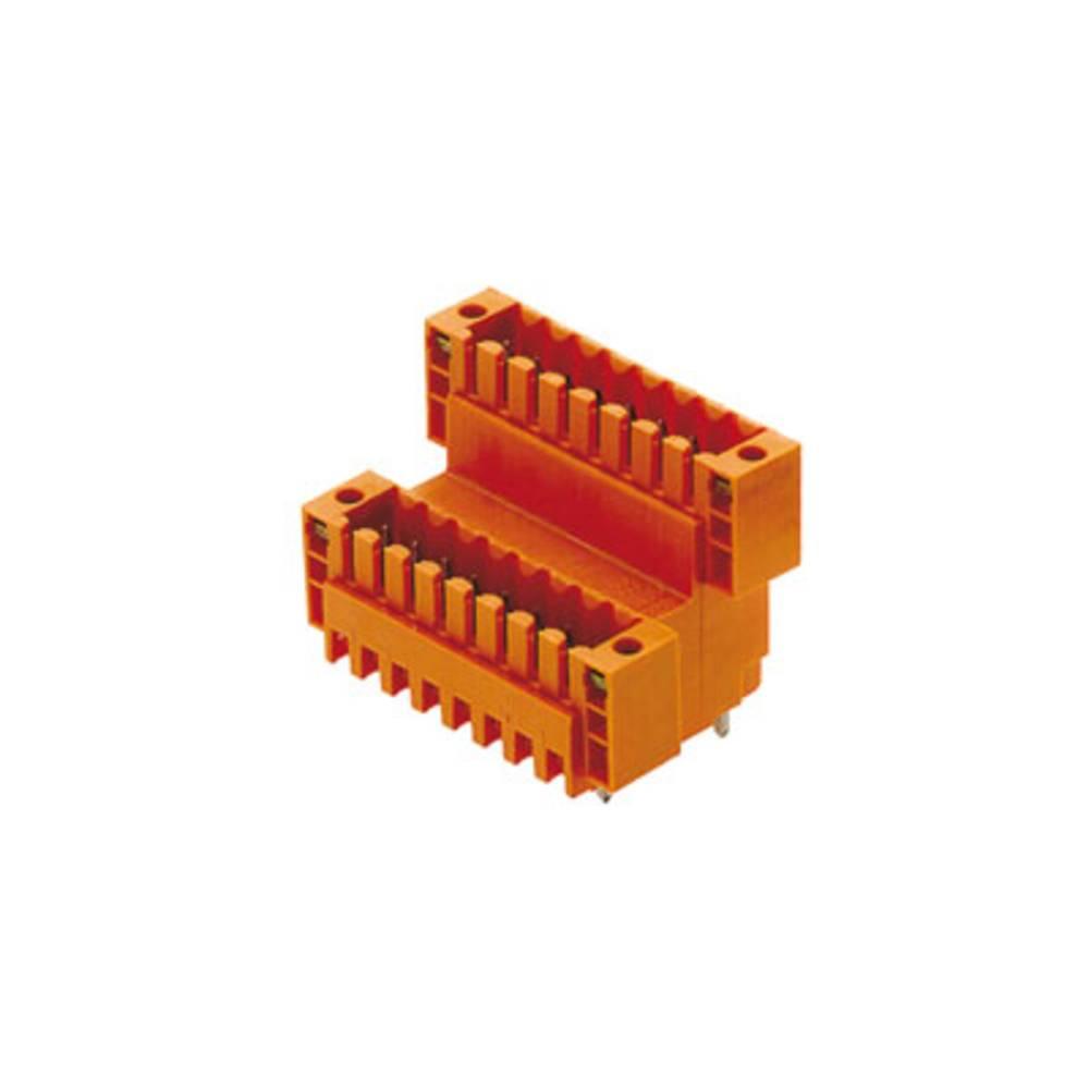 Vtični konektor za tiskana vezja oranžne barve Weidmüller 1641270000 vsebuje: 20 kosov