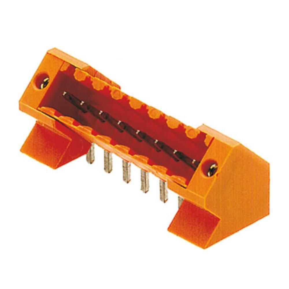 Vtični konektor za tiskana vezja oranžne barve Weidmüller 1643430000 vsebuje: 50 kosov